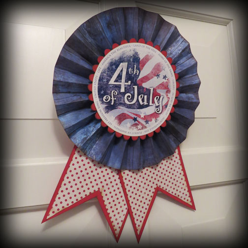 Independence Day Rosette