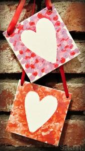 canvas Valentine craft